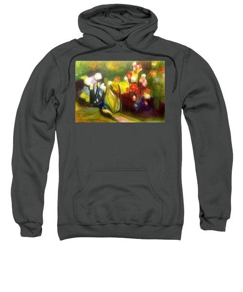Warm Flowers In A Cool Garden Sweatshirt