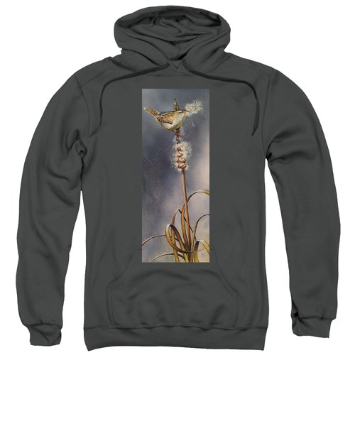 Wren And Cattails Sweatshirt