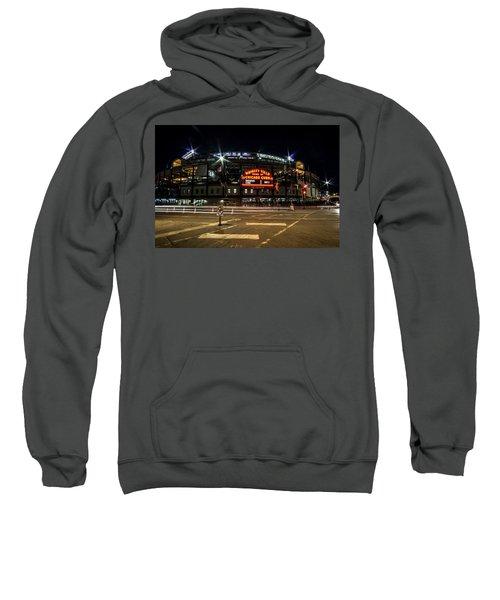 Wrigley Field Marquee At Night Sweatshirt