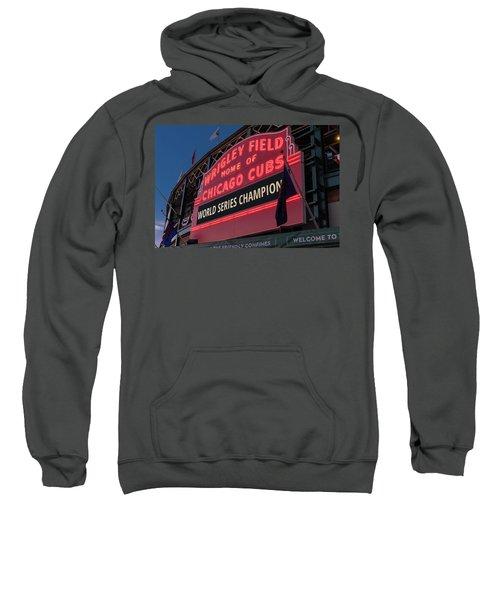 Wrigley Field World Series Marquee Sweatshirt by Steve Gadomski