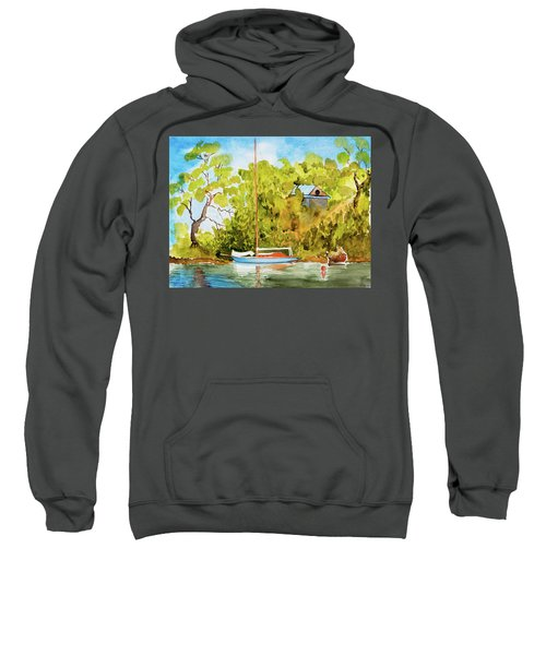 Yacht Weene' In Barnes Bay  Sweatshirt