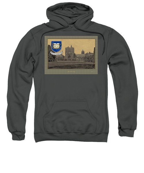 Yale University Building With Crest Sweatshirt by Serge Averbukh
