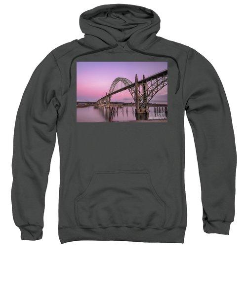 Yaquina Bay Bridge In Blue Light Sweatshirt