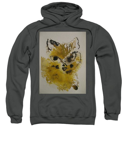 Yellow And Brown Cat Sweatshirt