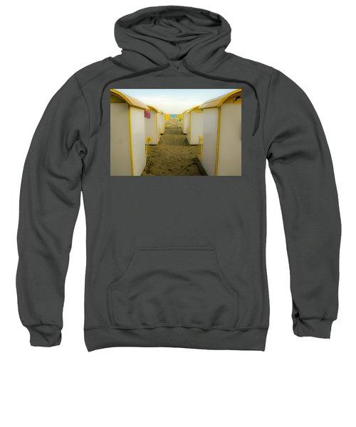 Yellow Beach Cabanas Sweatshirt