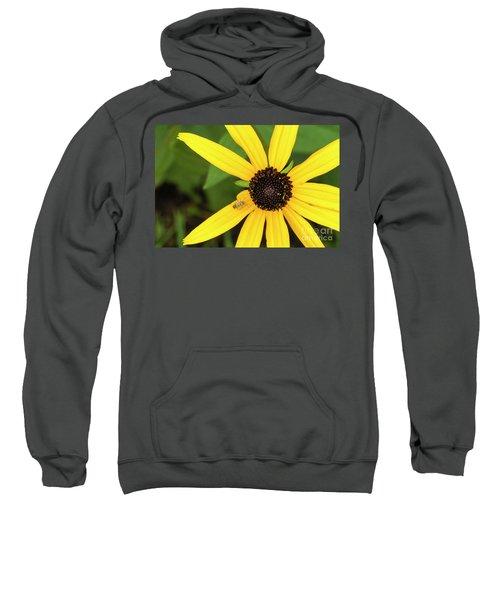 Yellow Petaled Flower With Bug Sweatshirt
