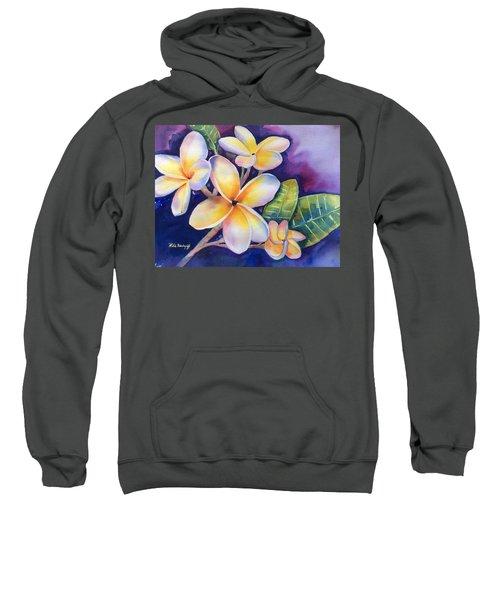 Yellow Plumeria Flowers Sweatshirt