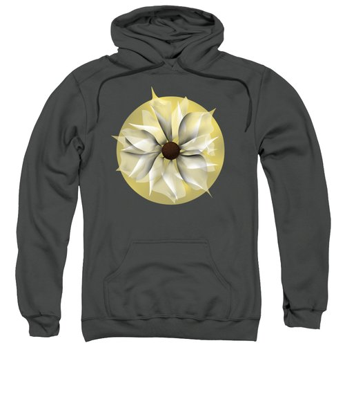 Yellow Soft Flower Sweatshirt