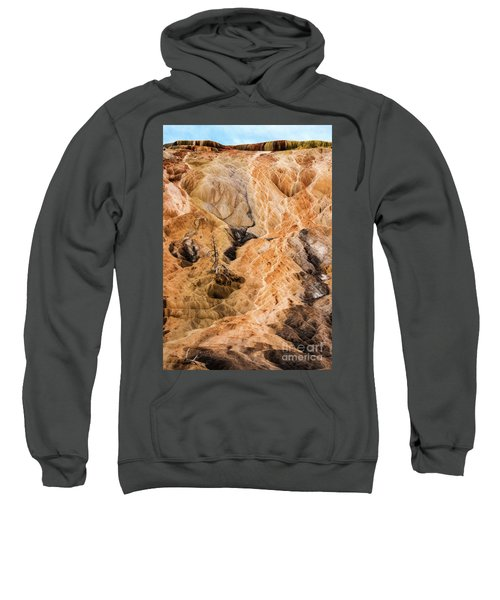 Sweatshirt featuring the photograph Yellow Stone National Park Abstract by Mae Wertz