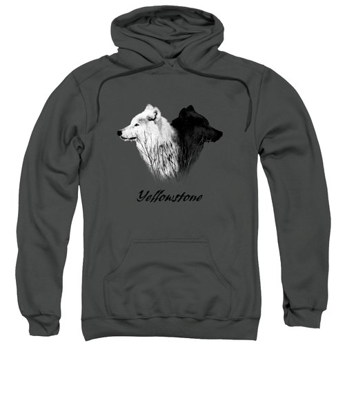 Yellowstone Wolves T-shirt Sweatshirt by Max Waugh