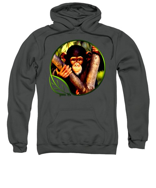 Young Chimpanzee Sweatshirt by Dan Pagisun