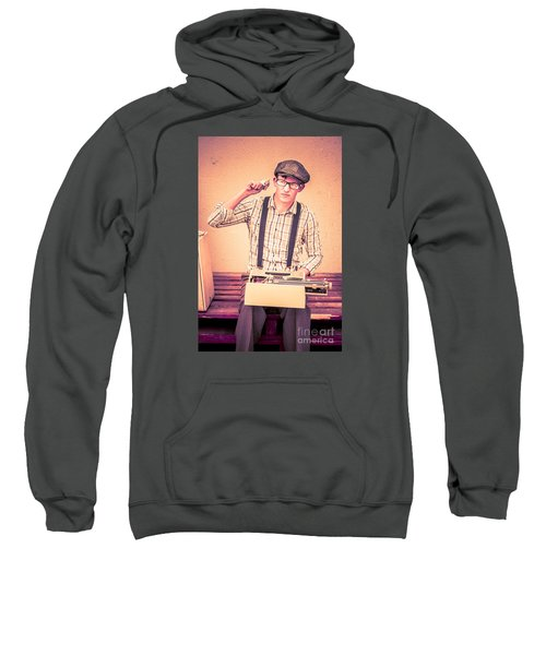Young Novelist Out Of Ideas Sweatshirt