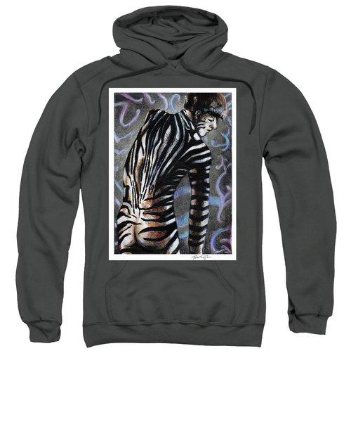 Zebra Boy At Dawn Sweatshirt