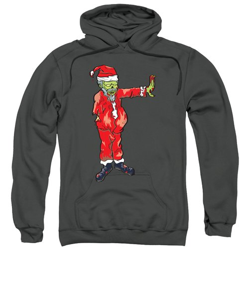 Sweatshirt featuring the drawing Zombie Santa Claus Illustration by Jorgo Photography - Wall Art Gallery