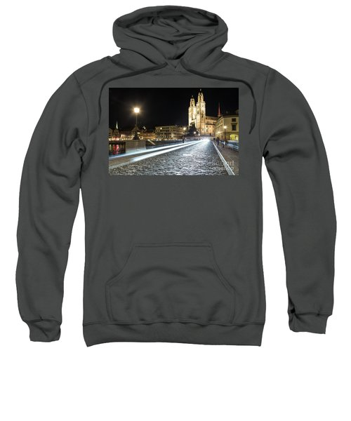 Zurich Night Rush In Old Town Sweatshirt