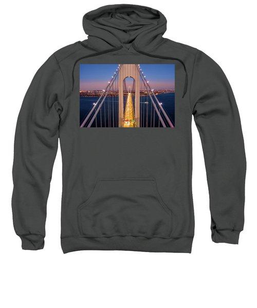 Aerial View Of Verrazzano Narrows Bridge Sweatshirt