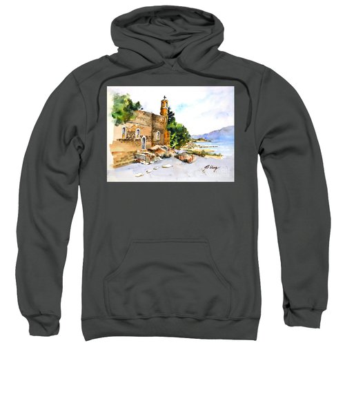 Church Of Primacy, Galilee Sweatshirt