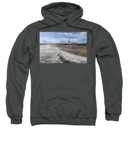 Santa Monica Beach, Santa Monica, California Sweatshirt