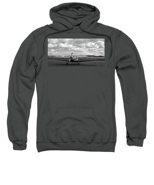 Silver Airplane Duxford England Sweatshirt