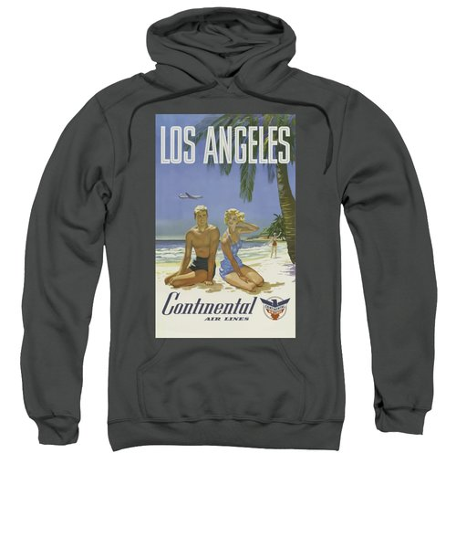 Vintage Travel Poster - Los Angeles Sweatshirt