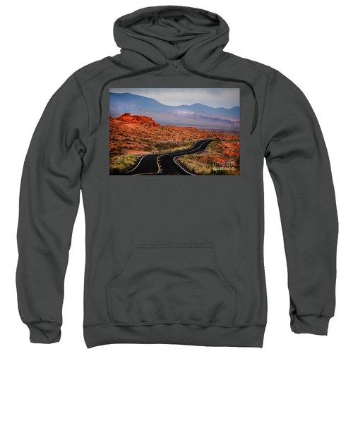 Winding Road In Valley Of Fire Sweatshirt