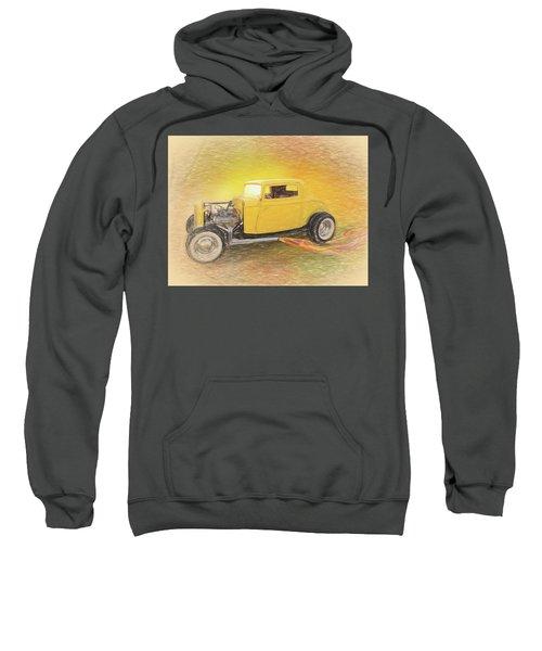 1932 Ford Coupe Yellow Sweatshirt