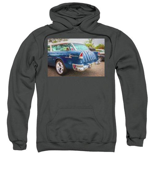 1955 Chevrolet Bel Air Nomad Station Wagon 228 Sweatshirt