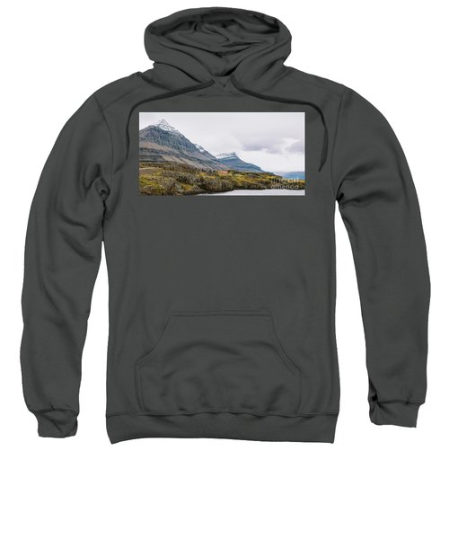 High Icelandic Or Scottish Mountain Landscape With High Peaks And Dramatic Colors Sweatshirt