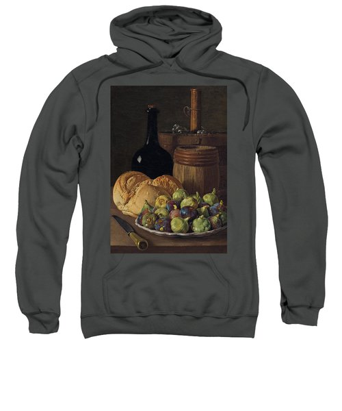 Still Life With Figs And Bread Sweatshirt