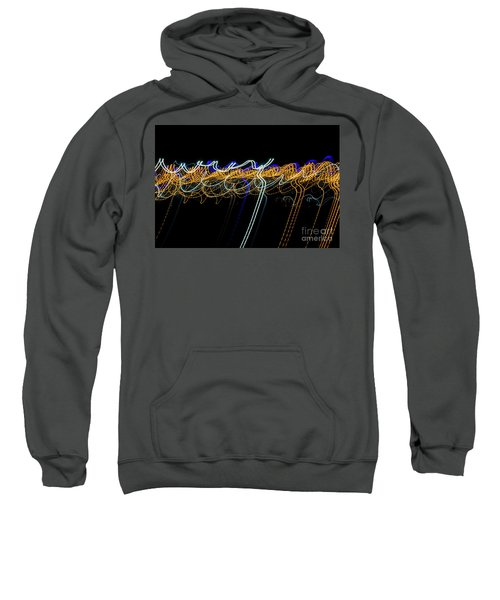 Colorful Light Painting With Circular Shapes And Abstract Black Background. Sweatshirt