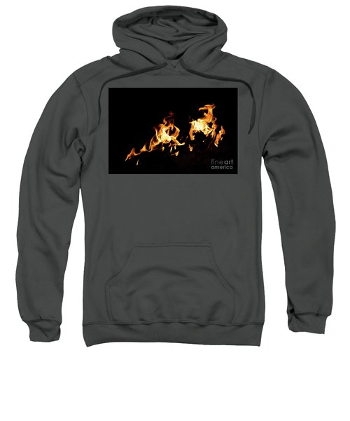 Flames In The Fire Of A Red And Yellow Barbecue. Sweatshirt