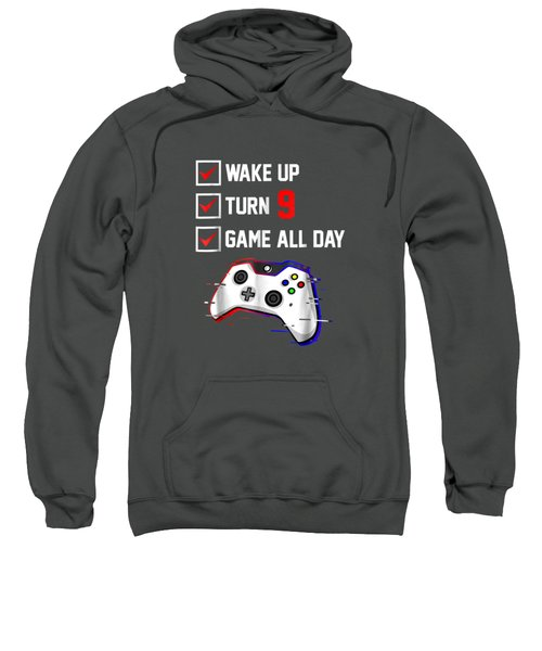 9th Gamer Birthday Shirt Birthday Video Game T Shirt Gifts Sweatshirt