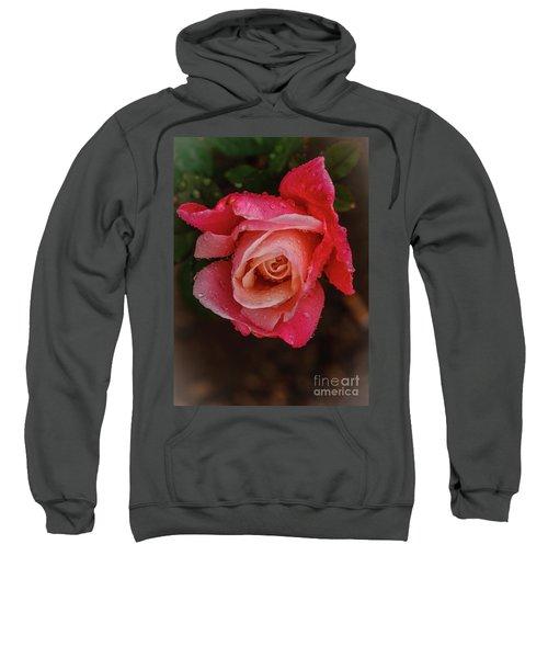 A Beautiful Wet Rose Sweatshirt