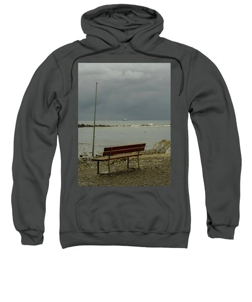 A Bench On Which To Expect, By The Sea Sweatshirt