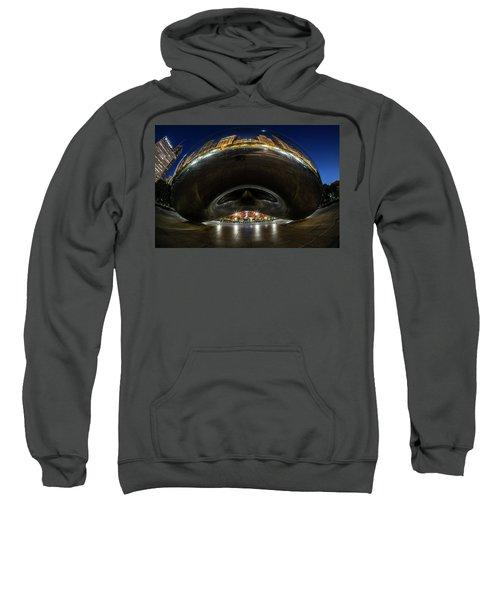 A Fisheye Perspective Of Chicago's Bean Sweatshirt