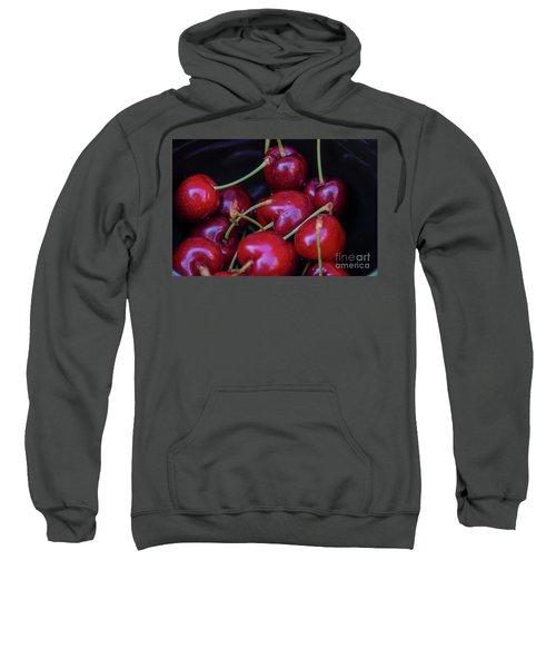 A Stack Of Ripe, Fresh Red Cherries C2 Sweatshirt