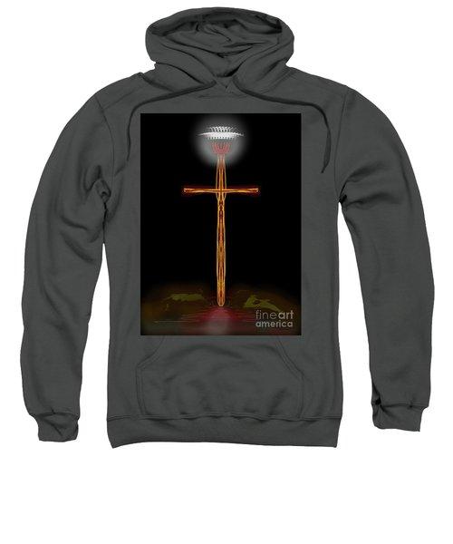 Abstract Cross With Halo Sweatshirt