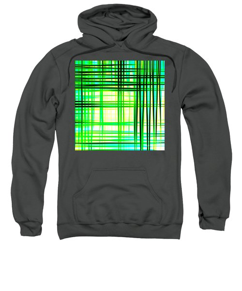 Abstract Design With Lines Squares In Green Color Waves - Pl409 Sweatshirt