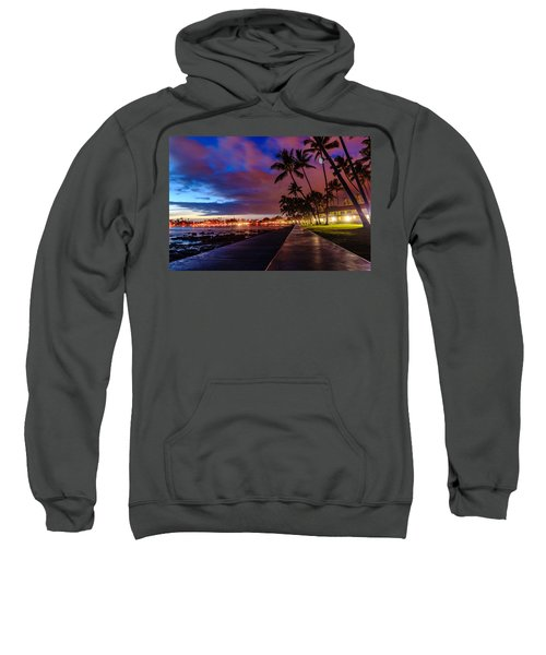 After Sunset At Kona Inn Sweatshirt