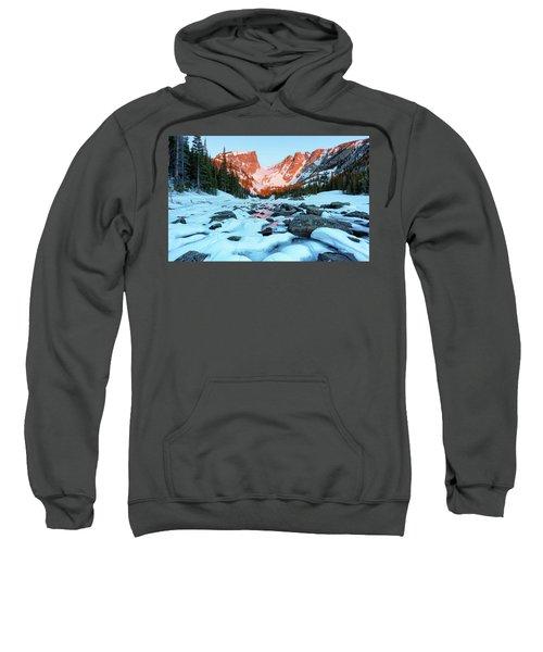 Alpenglow At Dream Lake Rocky Mountain National Park Sweatshirt
