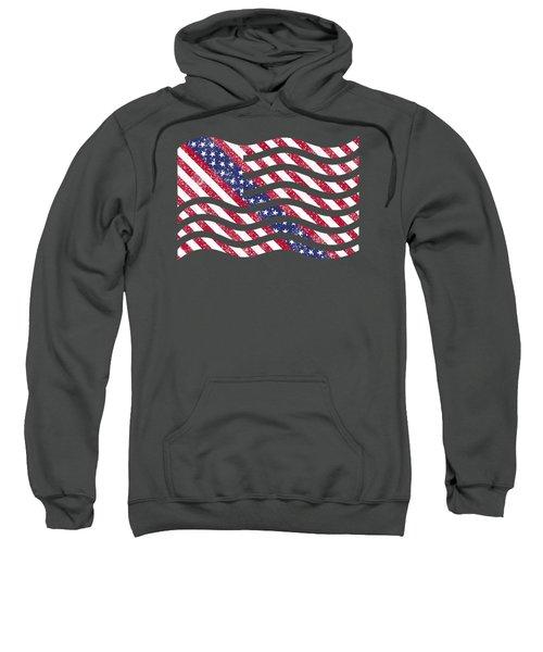 American Flag Art Sweatshirt