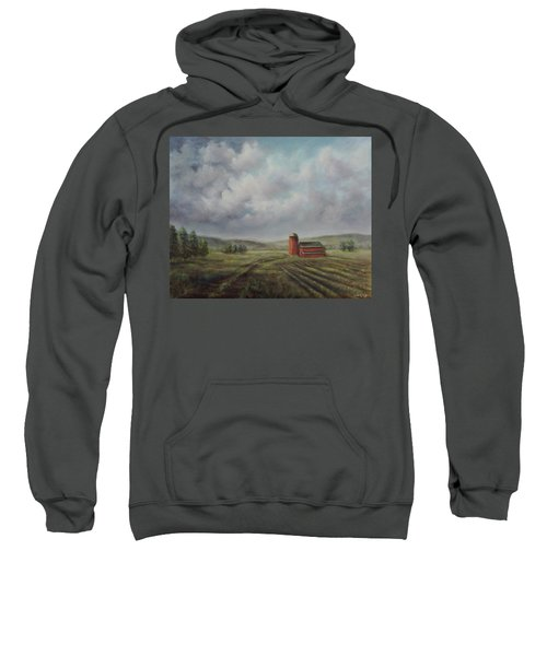 American Scene Red Barn  Sweatshirt