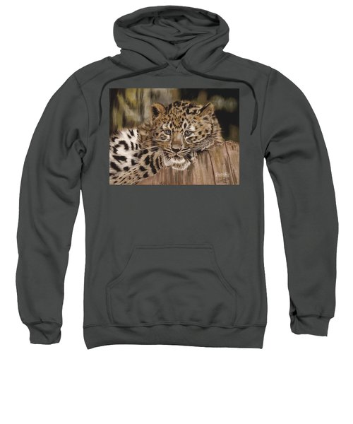 Amur Leopard Cub Sweatshirt