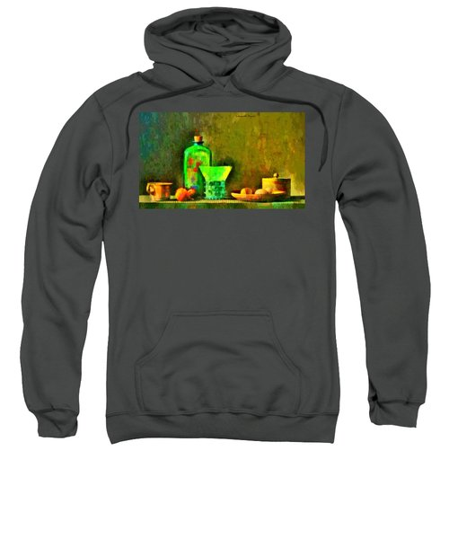 Ancient Objects And Oil Bottle - Da Sweatshirt