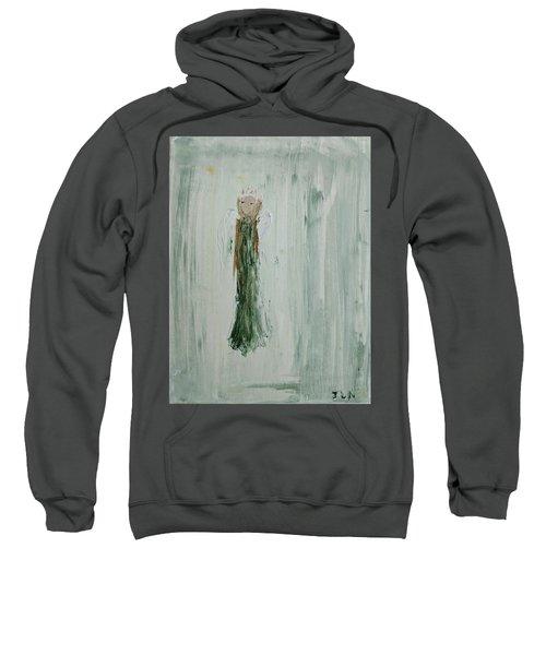 Angel In Green Sweatshirt