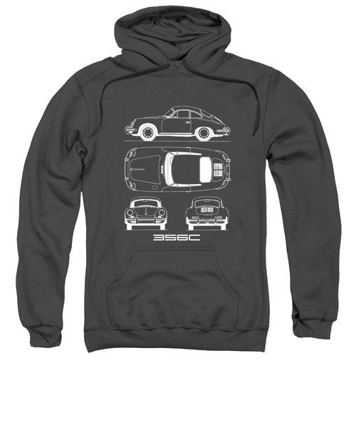 Porsche 356 C Blueprint Sweatshirt