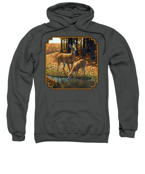 Whitetail Deer - Autumn Innocence 1 Sweatshirt