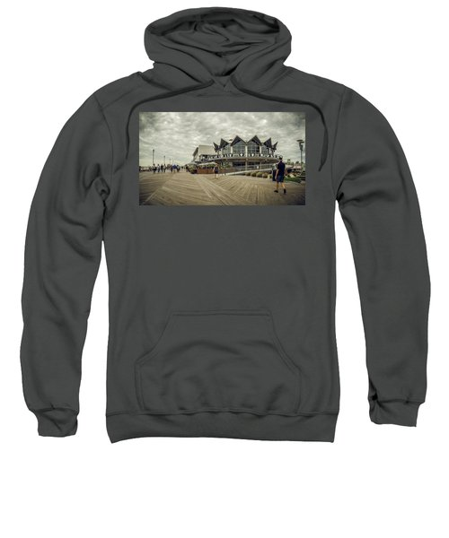 Asbury Park Boardwalk Looking South Sweatshirt