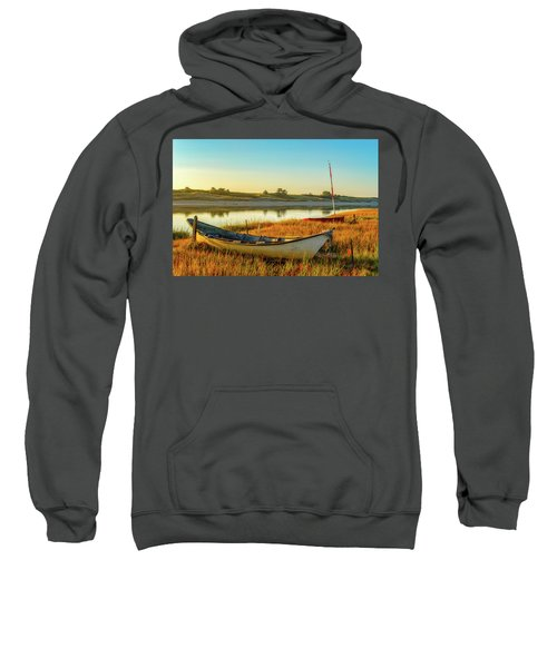Boats In The Marsh Grass, Ogunquit River Sweatshirt