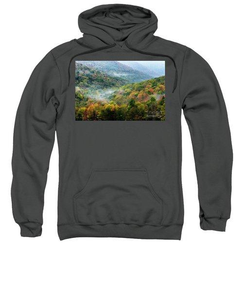Autumn Hillsides With Mist Sweatshirt